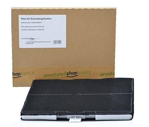 ersatzteilshop basics Premium Aktivkohlefilter Geruchsfilter für Siemens Bosch Dunsthaube - universell, passt wie DHZ5346, DHZ5385, Z5102X1, 00703606, VVZ52V50, 703606 -
