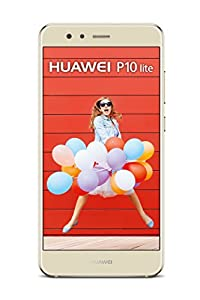 Huawei P10 Lite Dual-Sim Smartphone (13,2 cm (5,2 Zoll) Touch-Display, 32 GB interner Speicher, Android 7.0) Platinum Gold