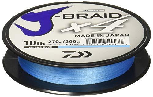 Daiwa jb4u10-300IB j-Braid X4300Yd Spool 10Lb Test Angelschnur, Island Blau