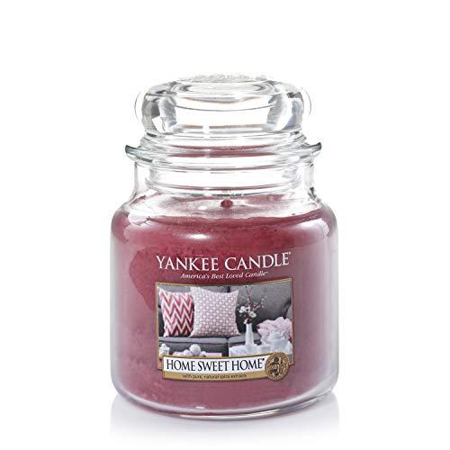 Yankee Candle mittelgroße Duftkerze im Glas, Home Sweet Home, Brenndauer bis zu 75Stunden
