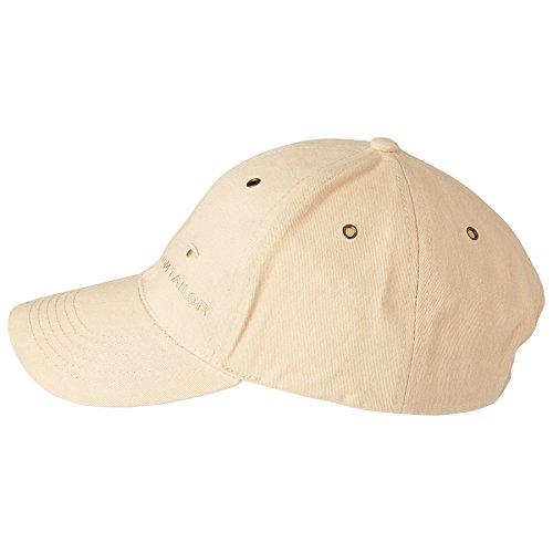 TOM TAILOR unisex, für Männer, für Frauen Gürtel & Riemen Baseball-Cap mit Stickerei dark vanilla, OneSize -