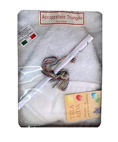 PEIGNOIR BÉBÉ MADE IN ITALY TOILE AIDA/C