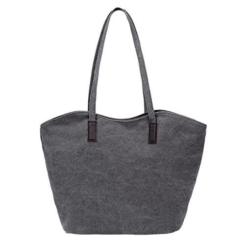 Modische Kunst Leinentasche Schulter Lässig Tott Handtasche Handtasche Grey