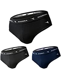 Diadora Set 3 Pezzi Uomo Slip Boxer Bianco Nero   Assortito Varie Taglie 4cbf3656438