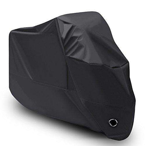 LIHAO 210D Funda Moto Cubierta Impermeable de Motocicleta (Negro)