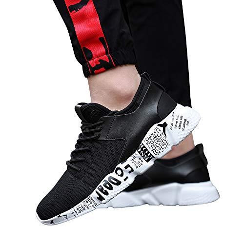 Dasongff Sneaker Herren Schwarz,Turnschuhe Männer Atmungsaktiv Laufschuhe Sportschuhe,Ultraleicht Comfort Fitnessschuhe Schnürer Running Shoes Low-Top