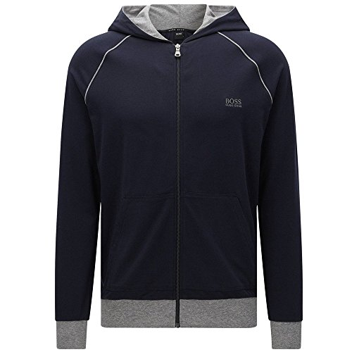 hugo-boss-mix-match-mens-zip-thru-hooded-jacket-navy-with-grey-large