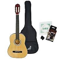 Rocket Music CG34PACK - Kit de guitarra acústica (puente fijo), color marrón