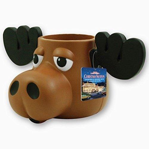 Moose Mug Huggie Bierflaschen Elch Kühler inklusive Walking Santa Aufziehfigur offizieller National Lampoons Christmas Vacation Hit