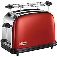 Russell Hobbs 23330-56 Colours Red Flame - Tostadora para 2 rebanadas, tueste rápido, ranuras más anchas, color rojo