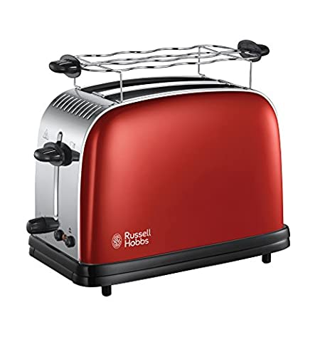 Russell Hobbs 23330-56 Colours Plus+ Flame Red Toaster,