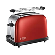 Russell Hobbs 23330-56 Toaster for Two Slices Colours pluss Flame red-23330-56, red