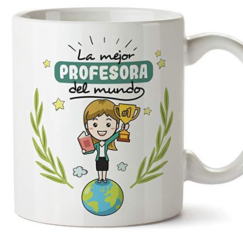 MUGFFINS Taza Profesora Mujer - La Mejor Profesora