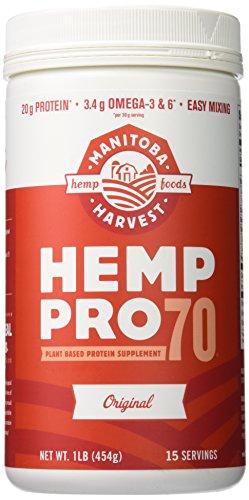 Manitoba Harvest Poudre de protéines de graine de chanvre Hemp Pro 70 - Soluble dans l'eau - Concentré de protéine à 70% - 473 ml