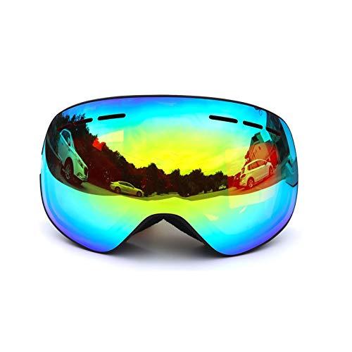 (Daesar Schnee Brille Herren Damen Sportbrille Nacht Schwarz Gold Schutzbrille für Brillenträger)