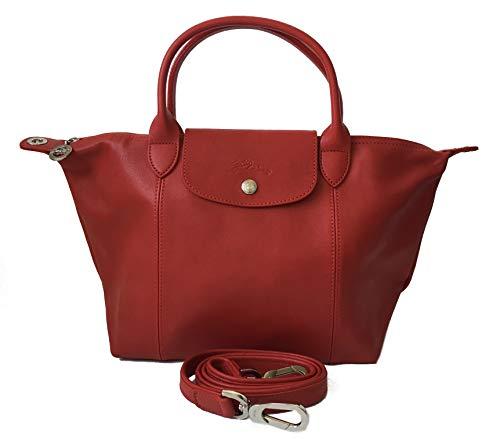 Longchamp Le Pliage Cuir Handtasche Kirsche