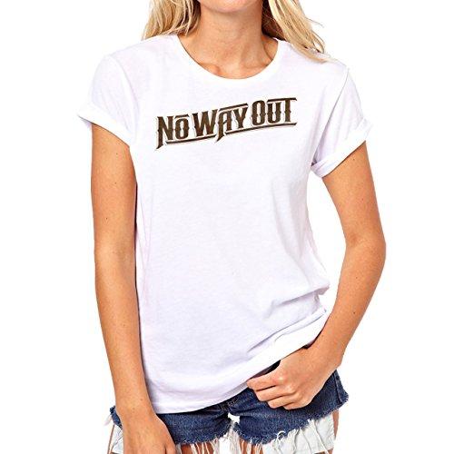 WWE Logo No Way Out Background Damen T-Shirt Weiß