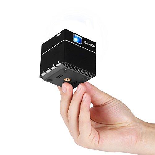 ExquizOn S6 Mini Vidéoprojecteur Cube DLP 1080P...