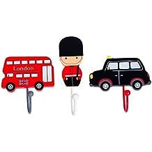 Tinkie Toys - Perchero de madera hecho a mano con diseño de autobús ...