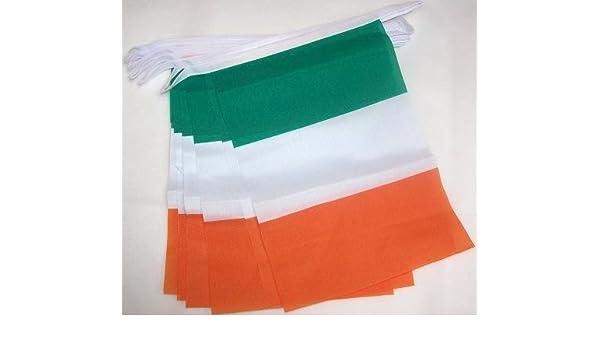 FAHNENKETTE IRLAND 6 meter mit 20 flaggen 21x14cm IRISCHE Girlande Flaggenkett