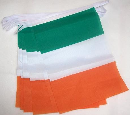 3M 10Flagge Irland Trikolore Irish Wimpelkette