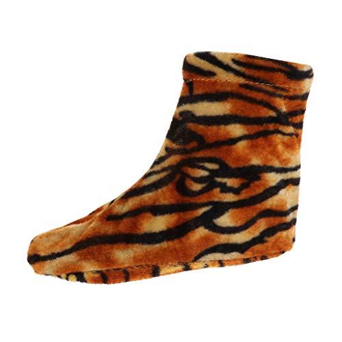 Schnee Tiger Kostüm - Hellery Wiederverwendbare Cosplay Schuhüberzieher Überziehschuhe Schuhüberzug für Bühnenperformance Halloween Karneval Fasching Kostüme - Tiger, M
