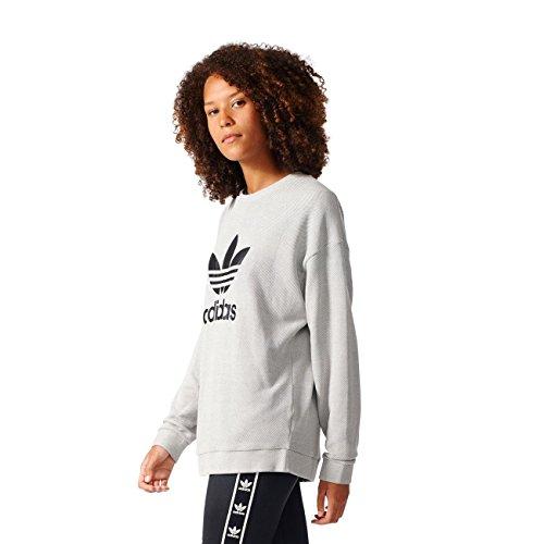 adidas Damen Trefoil Sweater Sweatshirt, Schwarz, 36 Mehrfarbig (Medgre)