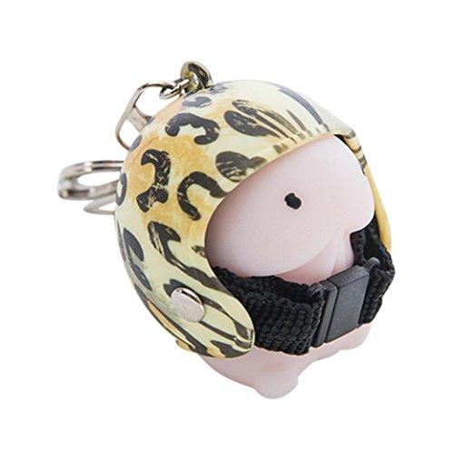 Fat. chot-Toys dingding Squishy Spielzeug Helm Cute Schlüsselanhänger Squeeze Stress Kombination 4Spielzeug, PU, E#g, 5cm*4cm*4cm