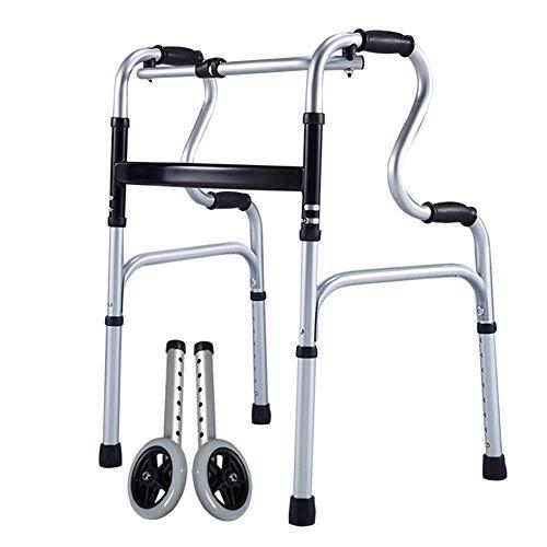 SXFYMWY Einstellbarer Walker mit Siames-Schaltknopf mit einem klick Faltbare für ältere Walker geeignet für Menschen mit unbequemen Beinen und Feet,C