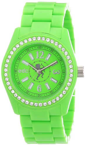 EDC Damen-Armbanduhr Disco Glam - Waterfall Green with Stones A.EE900172006