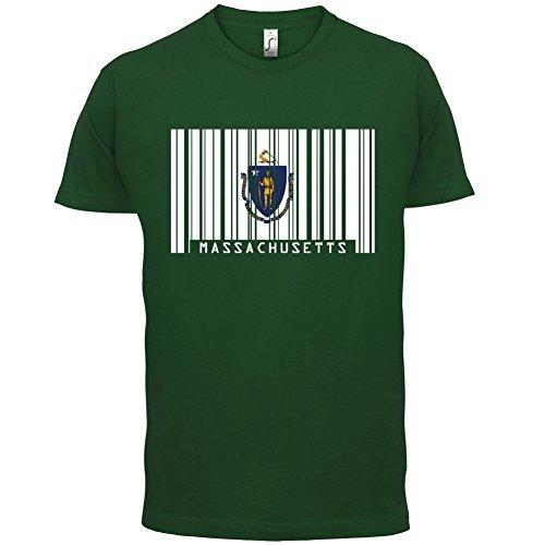 Massachusetts Barcode Flagge - Herren T-Shirt - 13 Farben Flaschengrün