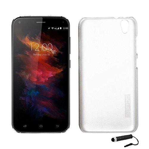 Tasche für UMIDIGI Diamond/ UMIDIGI Diamond X Hülle, Ycloud Handy Backcover Kunststoff-hard Shell Case Handyhülle mit stoßfeste Schutzhülle Smartphone Weiß Transparent