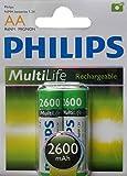 Philips Multilife Akku R6 2600mAh AA 2er Blister