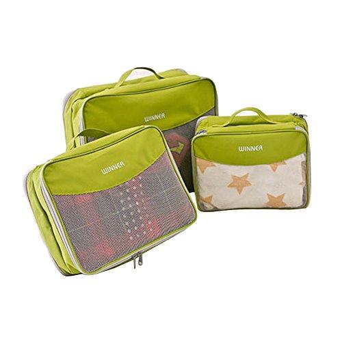 FunYoung Borse laterali 3 pezzi scelta del colore custodia vestiti regolati borse valigia bagagli Organizer