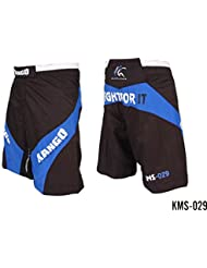 Kango MMA Shorts Muay Thai Kick Boxing entrenamiento UFC boxeo jaula lucha cortos Rush guard, color KMS-029, tamaño large