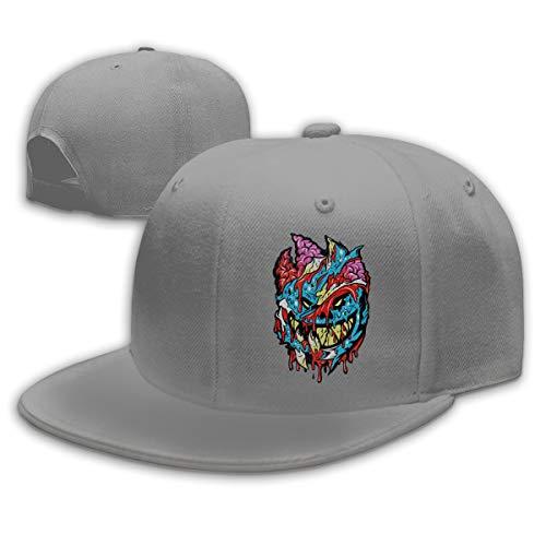 Verstellbar Unisex Damen Herren Cap Classic Insane Clown Posse Logo Snapback Mode Baseball Cap Flatbrim Mütze für Jungen Mädchen Basecap Baseballcap Gray -