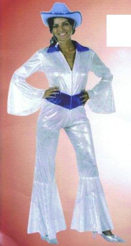 TRENDY Frauen Disco Fever 70er Jahre Kostüm Einheitsgr. M/L Karneval Fasching Schlagermove Schlager Verkleiden Verkleidung Damen Erwachsene