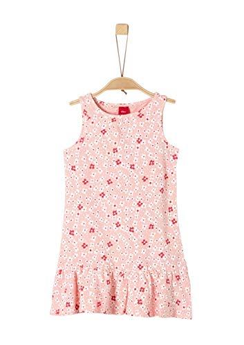s.Oliver Mädchen 58.906.82.5518 Kleid, Rosa (Pink AOP 41a0), 116 (Herstellergröße: 116/REG)