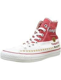 Converse Unisex-Erwachsene All Star Prem Hi Warhol Hightop Sneaker, Rot/Weiß, 40 EU