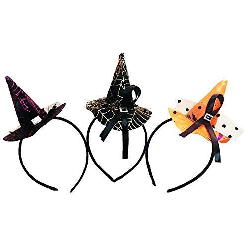 HEALUMS Mini Hut Stirnband Cobweb Dots Schleier Mütze Ostern Halloween Kostüm Zubehör Party KopfschmuckMix Stil
