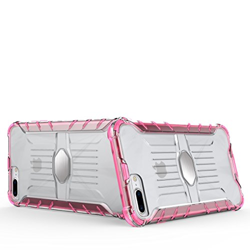 """iPhone 7 Plus Transparente Hülle,EVERGREENBUYING [Metallplatte] Abnehmbare Hybrid Schein iPhone 7+ Tasche Ultra-dünne Schutzhülle Cover Etui für iPhone 7 Plus (5.5"""") Schwarz Grün"""