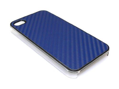 Sandberg Fiber Haut Cover Schutzhülle für iPhone 4/4S blau