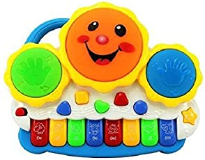 Crazy Toys Latest Drum Keyboard Musical Toys with Flashing Lights, Animal Sounds & Songs - Battery Operated Kids Toys