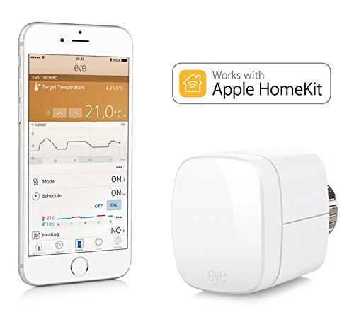 Elgato Eve Thermo - Heizkörperthermostat mit Apple HomeKit-Unterstützung, Bluetooth Low Energy -
