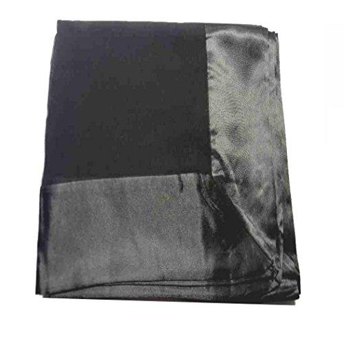 Avantgarde STOLA elegante per cerimonia da donna nera con balza di raso nero STOLE CERIMONIA eleganti e raffinate colore nero