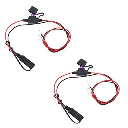 P Prettyia 2 Stück 18AWG Hot Solar Batterie SAE Stecker Harness DIY Verlängerungskabel Kabel