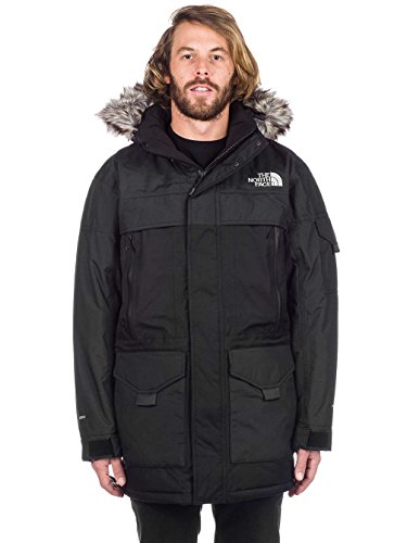 Fit-high Rise (The North Face Herren MC Murdo 2 Parka, Black/High Rise Grey, M)