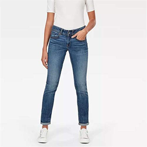 G-STAR RAW Damen Midge Saddle Mid-Waist Straight Jeans