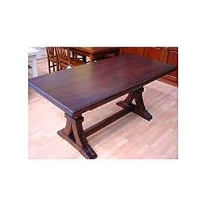 Tavolo legno rettangolare allungabile massello noce arte for Tavoli amazon