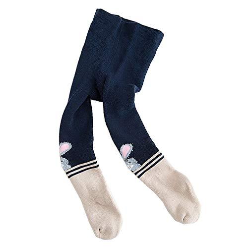 Calzamaglie caldo cotone bambino collant invernali ragazza leggings bambina caldi calze maglia termica/l/6-8y